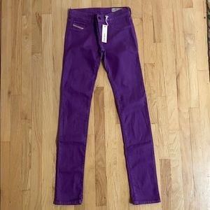 DIESEL Livier purple jeggings